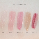 e.l.f. Hypershine Gloss Swatches: Fairy, Blossom, New York City, Honey, and Sugar Plum