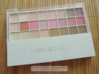 Exterior of the e.l.f. Spring Collection 2012 32 Piece Palette: warm eyeshadow