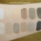 Swatches of the e.l.f. Studio 6 Piece Geometric Eyeshadow Palette I & II