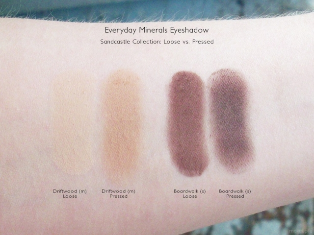Sandcastle Palette Swatches: Loose vs Pressed