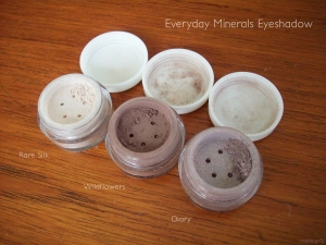 Everyday Minerals Eyeshadow: Rare Silk, Wildflowers, Diary