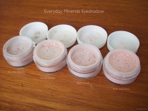 Everyday Minerals Eyeshadow: On the Phone, Good China, Spin Cycle and Pots and Pans