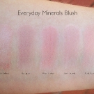 Everyday Minerals Blush Swatches: Walkee Talkee, Bouquet, Pink Ribbon, Soft Touch, Nick Nack