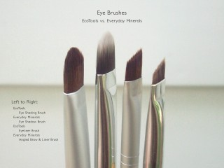 Eye Brushes: EcoTools - Eye Shading Brush,  Eyeliner Brush; Everyday Minerals - Eye Shadow and Angled Brow & Liner Brush