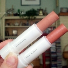 Everyday Minerals Lip Balm in Golden Strawberry and Enough Talk, Kiss Me