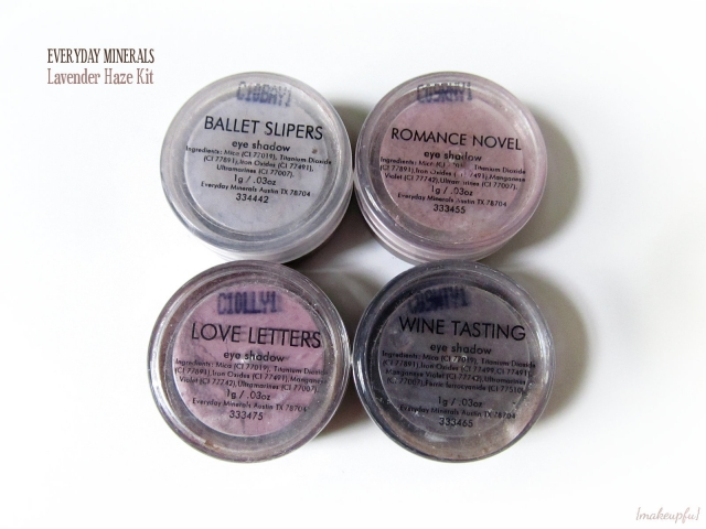 Everyday Minerals Lavender Haze Kit: Ballet Slippers, Romance Novel, Love Letters, and Wine Tasting