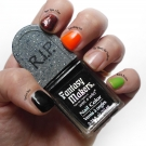 "Swatches of Wet n Wild Fantasy Makers Tombstone Polish: ""Darkest Hour"", ""Once Upon a Time"", ""Goosebump Suit"", ""Glo' Money, Glo' Problems"", and ""Roach Busters"""