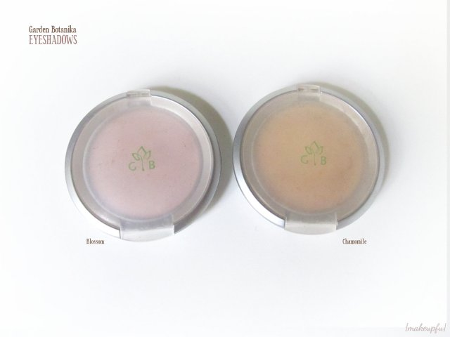 Garden Botanika Eyeshadows in Blossom and Chamomile