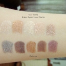 Swatches of e.l.f. Baked Eyeshadow Palette in California
