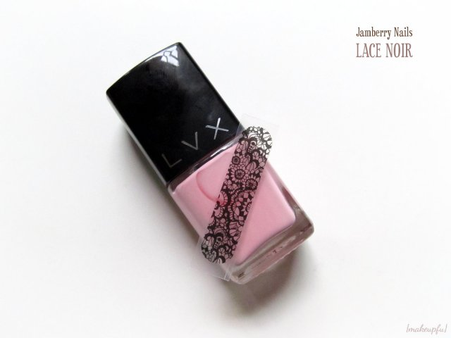 Jamberry Nails in Lace Noir with LVX Lolli.