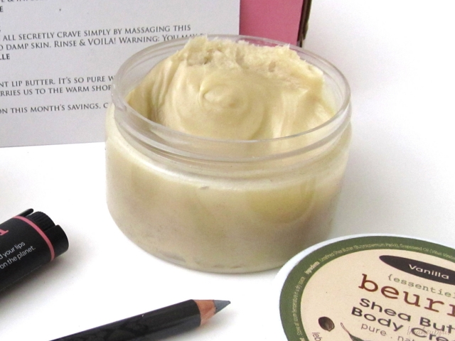 January 2014 Petit Vour Box: La Beurre Shea Butter Body Cream in Vanilla