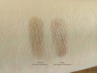 Swatch comparison between benecos So What? and Silk Naturals Bailey.