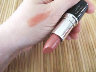 Swatch of Lavera Lipstick in Peach Amber