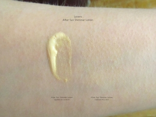 Swatch of Lavera After Sun Shimmer Lotion