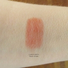 Swatch of Lavera Lipstick in Peach Amber