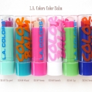 L.A. Colors Color Balms: Ka-pow!, Wham!, Swoon, Smooch, Zap, and Boom.
