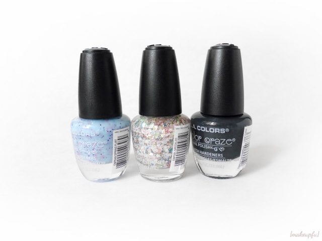 L.A. Colors Color Craze Polishes in Spring Flirt, Speckled and So Famous