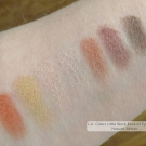 Selected swatches of L.A. Colors Little Black Book of Eyeshadows: Natural Edition