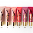 L.A. Girl Glazed Lip Paints in Whisper, Elude, Peony, Tango, Blushing, and Pin-Up