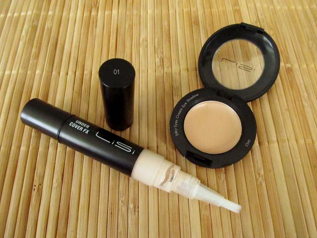 LiSi Cosmetics Under Cover FX Under Eyes Concealer in 01 & Silky Eyes Cream Eye Shadow in Clay