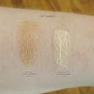 Swatches of LiSi Cosmetics Under Cover FX Under Eyes Concealer in 01 & Silky Eyes Cream Eye Shadow in Clay