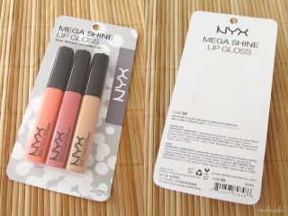 NYX mega Shine Lip Gloss Trio