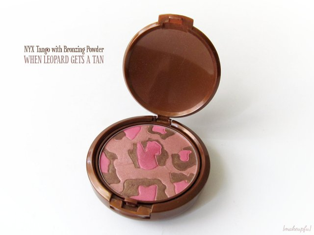 Top layer of the NYX Tango With Bronzing Powder: When Leopard Gets a Tan