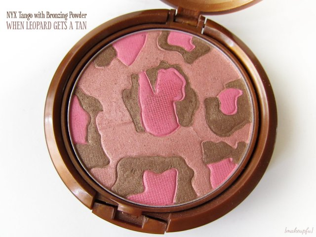 Closeup of the NYX Tango With Bronzing Powder: When Leopard Gets a Tan
