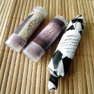 Ophelia\'s Apothecary: Lip Tints in Bitten and Black Cherry; Soap on the Go in Bamboo Sugar Cane