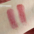 Ophelia's Apothecary Lip Tint swatches in Black Cherry and Bitten