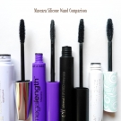 Mascara Silicone Wand Comparison: e.l.f. Essential Volumizing and Defining Mascara, Wet n Wild MegaLength Mascara, e.l.f. Studio Mineral INFUSED Mascara, and Pacifica Aquarian Gaze Mascara