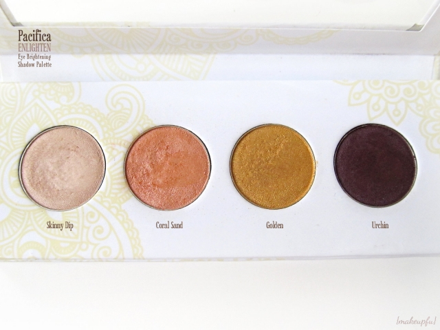 Closeup of the Pacifica Enlighten Eye Brightening Shadow Palette