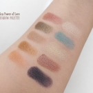 Swatches of the Pacifica Power of Love Eyeshadow Palette