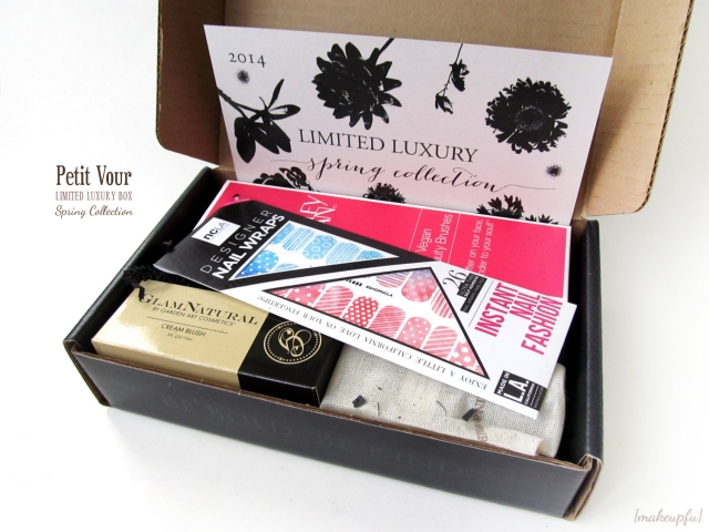 Petit Vour 2014 Limited Luxury Spring Collection Box and NCLA Nail Wraps (not included in the LE box; purchased separately).
