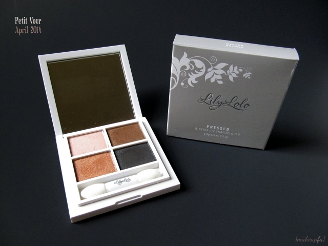 Petit Vour April 2014: Lily Lolo Pressed Mineral Eye Shadow Quad in Molten Bronze