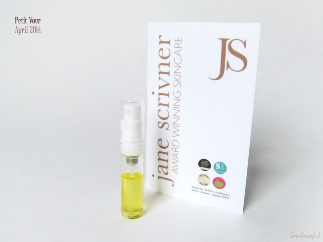 Petit Vour April 2014: Jane Scrivner Skin Elixir