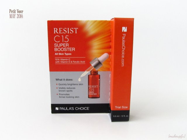 Petit Vour Box May 2014: Packaging of the Paula's Choice Resist C15 Super Booster