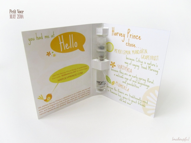 Petit Vour Box May 2014: Packaging of the Harvey Prince Hello Fragrance