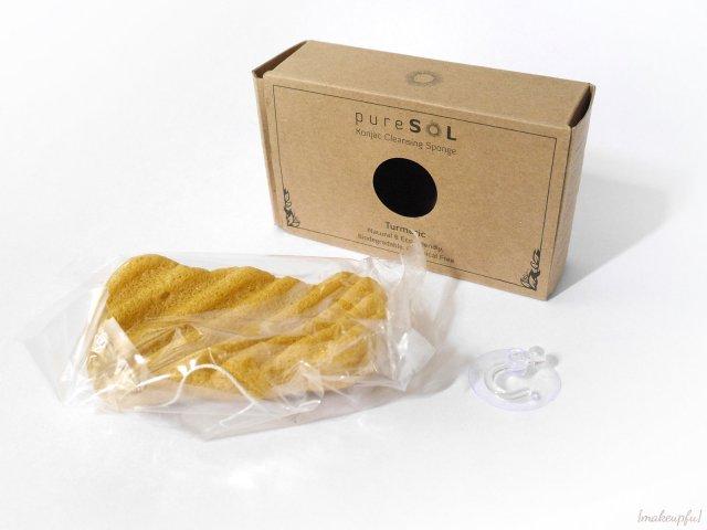 pureSOL Turmeric Konjac Cleansing Sponge