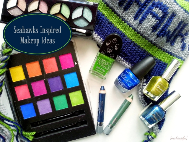 Seahawks inspired makeup ideas.