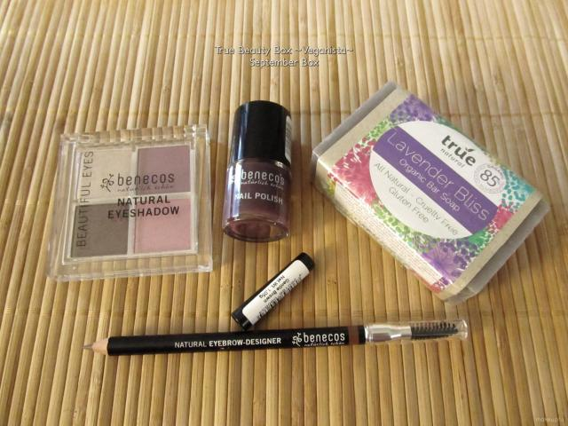 Full size products in the September True Beauty Box {Veganista}