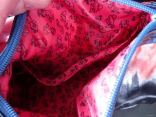 Lining of the Cruella De Vil Soho Disney Villains Train Case 2013