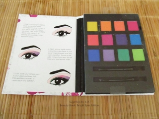 Inside of Sugarkiss by e.l.f. Beauty Book: Bright Eyes Edition