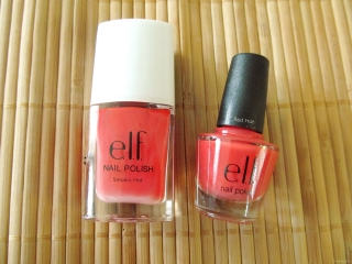 e.l.f. Mini Nail Polish in Red Hot vs Smokin' Hot