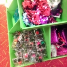 e.l.f. Nail Polish & Super Glossy Lip Shines in a Target stocking stuffer display in the girls section.