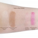 Swatches of the Pocahontas Dare to Dream Collection Retractable Luminizer in Great Spirit and Wild Spirit, and the Townley Disney Princess Lip Balm in the Belle Collection Strawberry Spell and Mulan Dare to Dream Collection Cherry Blossom