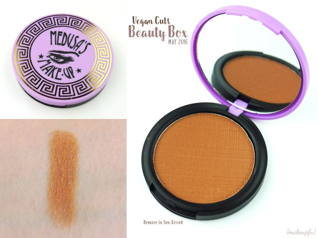 Vegan Cuts Beauty Box May 2016: Medusa's Make-Up Bronzer in Sun-Kissed