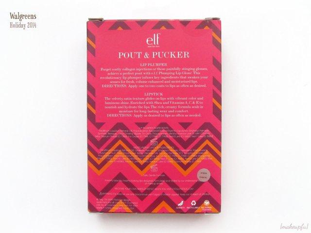 e.l.f. Pout & Pucker Lip Set | Walgreens Holiday 2014
