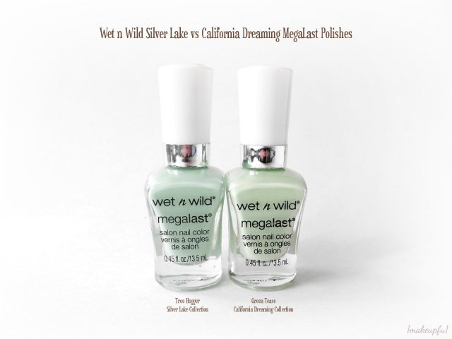 Wet n Wild MegaLast Polish: Silver Lake Spring 2015 Collection Tree Hugger vs California Dreaming Summer 2015 Collection Green Tease