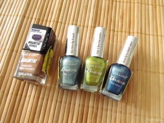 Wet n Wild Chrome Nail Color in Stay Outta My Bismuth, I Got a New Com-pewter, and Grew Up in Cobalt-imore + Wet n Wild Magnetic Nail Color in I Won't Repel You